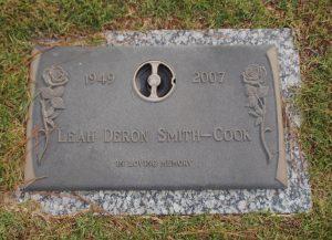 Leah DeRon Cook, Sherwood Memorial Park, GA
