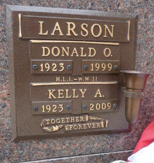 Kelly A Larson, Mountain View Memorial Gardens, Calgary, AB