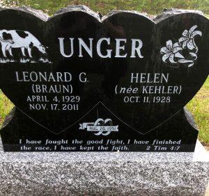 Leonard Unger, Rosengard Cemetery