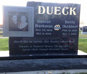 Gus & Betty Dueck, Heritage Cemetery, Steinbach, MB