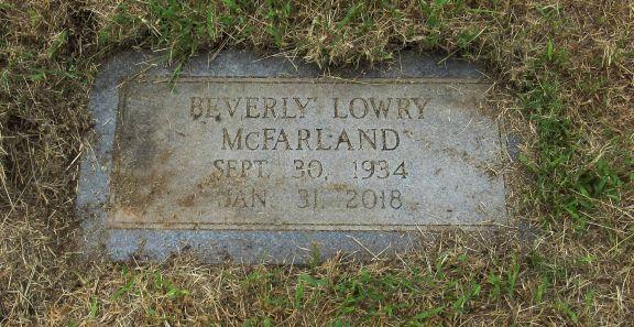 Beverly McFarland, Duncan Municipal Cemetery, Duncan, OK